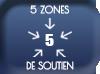 5 zones de soutien