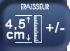 Epaisseur 4,5 cm